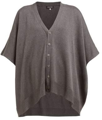 eskandar Oversized Raw Silk Tabard Cardigan - Womens - Dark Grey