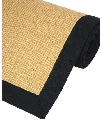 Oriental Furniture Big Size Lowest Cost Carpet, Honey Color Area Sisal Rug with Black Edge and Latex Backing, 60 by 96-Inch