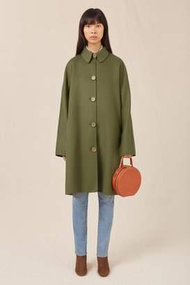 Mansur Gavriel Wool Cashmere Elegant Coat - Moss