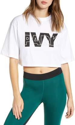 Ivy Park R) Layer Logo Crop Tee
