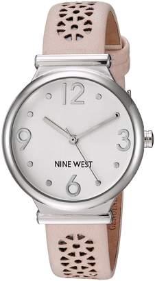 Nine West Women's Quartz Metal and Polyurethane Dress Watch, Color:Pink (Model: NW/1781SVLP)