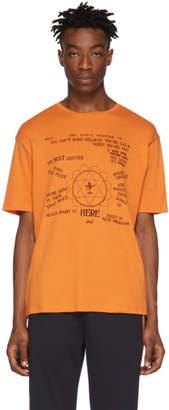 Wales Bonner Orange Ram Dass Presence T-Shirt
