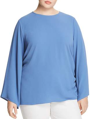 Vince Camuto Plus Crepe Cinched-Side Top