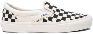 Vans OG Classic Canvas Slip On LX in Black & White Checkerboard | FWRD