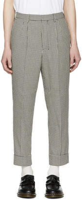 Ami Alexandre Mattiussi Black and White Carrot Pleated Trousers