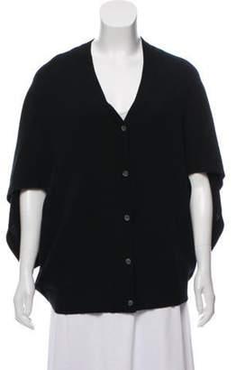 Michael Kors Cashmere Button-Up Poncho Black Cashmere Button-Up Poncho
