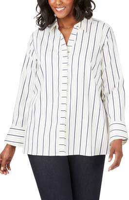 Foxcroft Kyla Stripe Stretch Sateen Shirt