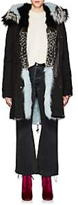 Mr & Mrs Italy Women's Fur-Trimmed & -Lined Cotton Parka-Black