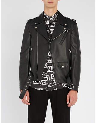 Moschino Corseted leather jacket