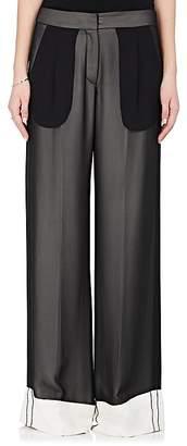Derek Lam Women's Chiffon Wide-Leg Tuxedo Trousers $1,490 thestylecure.com