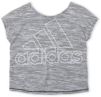 adidas Girls 7-16) Stripe Logo Tee