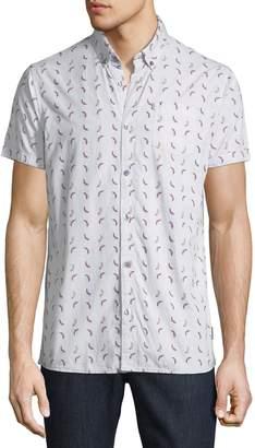 Noize Amstrdm Men's Chili-Pepper Short-Sleeve Sport Shirt