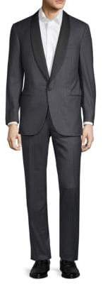 Corneliani Lukacs Pinstriped Wool Suit