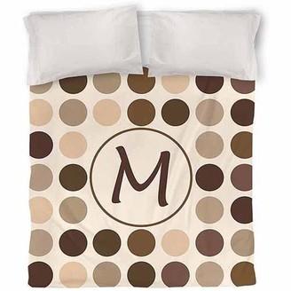Thumbprintz Dots Monogram Neutral Duvet Cover
