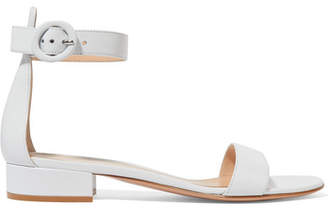 Gianvito Rossi Portofino 20 Leather Sandals - White