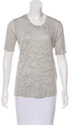 Raquel Allegra Printed Short Sleeve Top