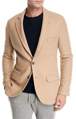 Loro Piana Camel Jersey Three-Button Blazer