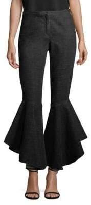 Crosley Denim Ruffle Pants