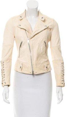 Ralph Lauren Lace-Up Leather Jacket $295 thestylecure.com