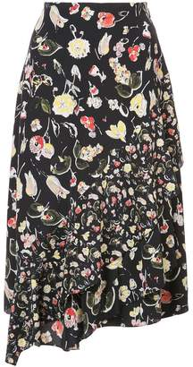 Jason Wu GREY flared floral skirt