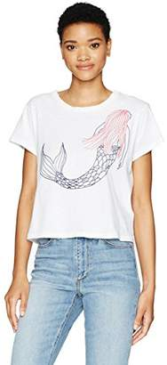Sundry Women's Cropped Tee Mermaid