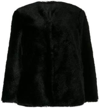 Sara Lanzi faux-fur coat
