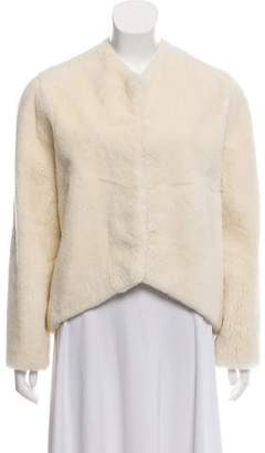 Narciso Rodriguez Fur Collarless Jacket