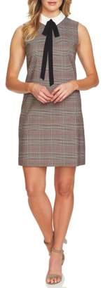 CeCe Glen Plaid Sleeveless Shift Dress