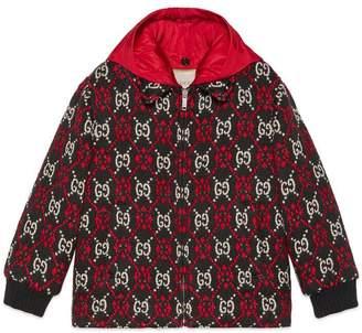 Gucci Children's GG diamond bomber jacket