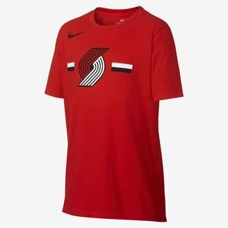 Nike Portland Trail Blazers Dri-FIT Big Kids' Logo NBA T-Shirt