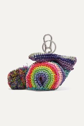 Loewe + Paula's Ibiza Bunny Raffia Bag Charm - Purple
