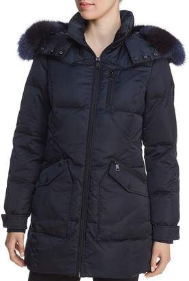 One Madison Patch Pocket Fur-Trim Puffer Parka