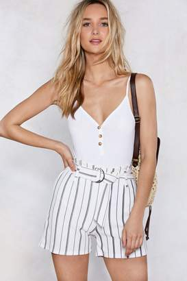 Nasty Gal Heart of Line Striped Shorts