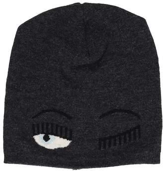 Chiara Ferragni Beanie Flirting Black Wool Hat