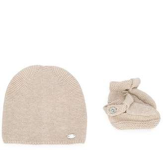 Tartine et Chocolat knitted hat and bootie set