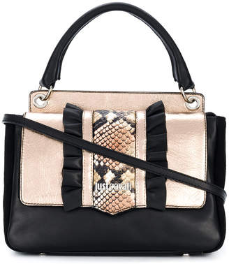 Just Cavalli snake effect tote bag