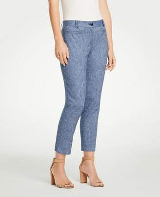 Ann Taylor The Petite Crop Pant In Chambray - Curvy Fit