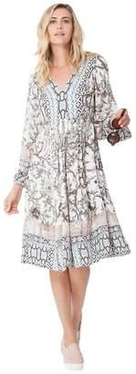 Hale Bob Raiyana Satin Peasant Dress