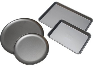 OvenStuff Mainstays 4-Piece Pizza Night Set, Grey
