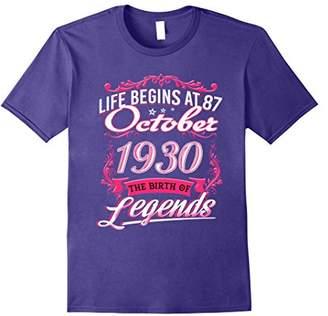 October 1930 - 87th Birthday Gifts Funny Tshirt