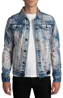 PRPS Men's Paint Splatter Denim jacket