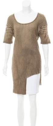 Kimberly Ovitz Short Sleeve Asymmetrical Top