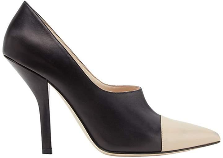 Fendi curved heel pumps