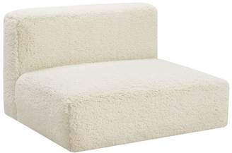 Pottery Barn Teen Cushy Lounge Armless Chair, Ivory Sherpa Faux-Fur, IDS