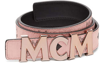 "MCM Letter Belt 1.2"" In Visetos"
