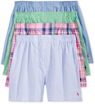 Polo Ralph Lauren Men's 4 Pack Patterned Cotton Boxers $39.50 thestylecure.com