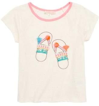 Truly Me Sandals Embellished Tee (Toddler Girls & Little Girls)