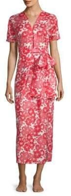 Lisa Marie Fernandez Rosetta Tomato Floral Sheath Dress