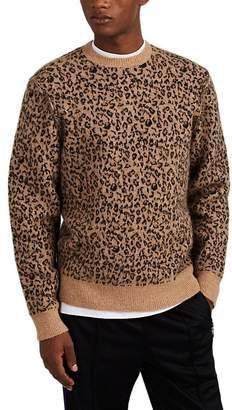Ovadia & Sons Men's Leopard-Print Wool-Blend Sweater