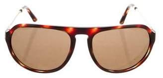 Burberry Tortoiseshell Pilot Sunglasses